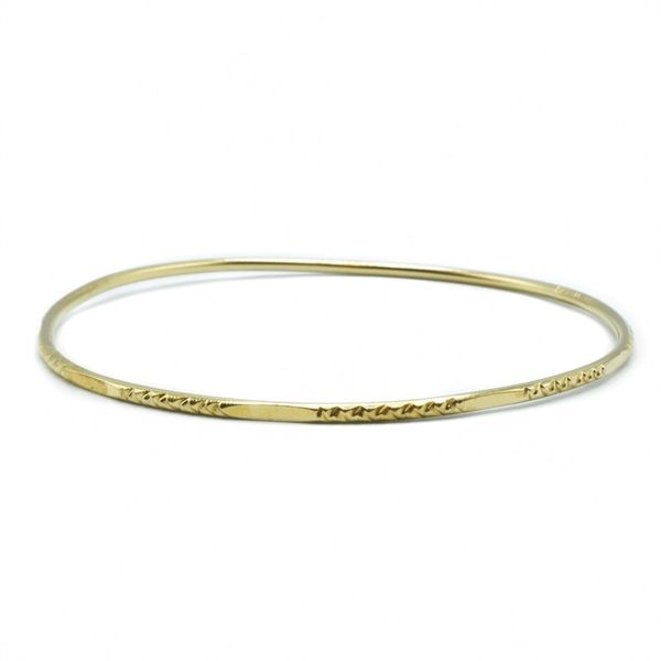 22k Yellow Gold 1.8mm Wide Bangle Lumina Gem Wilmington, NC