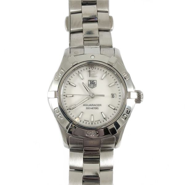 TAG Heuer Women's Stainless Steel Aquaracer - Mother of Pearl Dial Lumina Gem Wilmington, NC