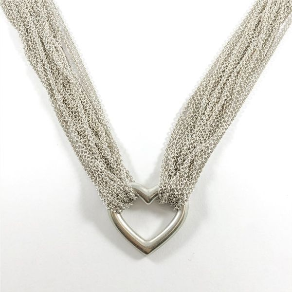 Tiffany & Co. Sterling Silver Multi Strand Heart Necklace Lumina Gem Wilmington, NC