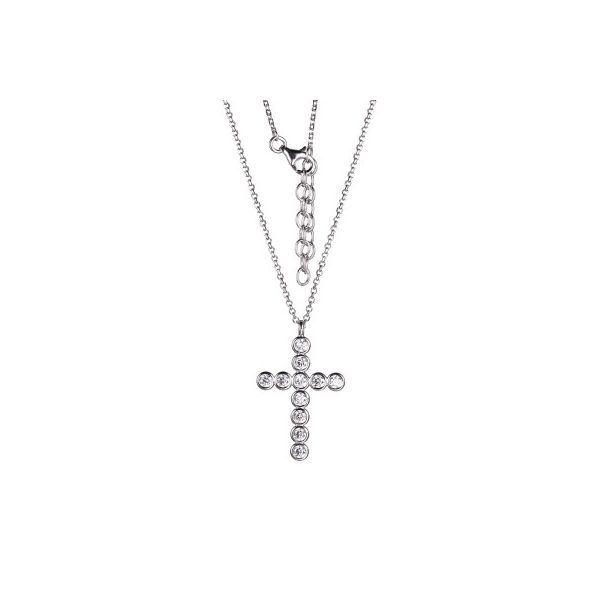 Charles Garnier CZ Cross Necklace - 19