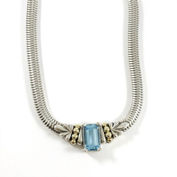 Lagos Caviar Blue Topaz Necklace Lumina Gem Wilmington, NC