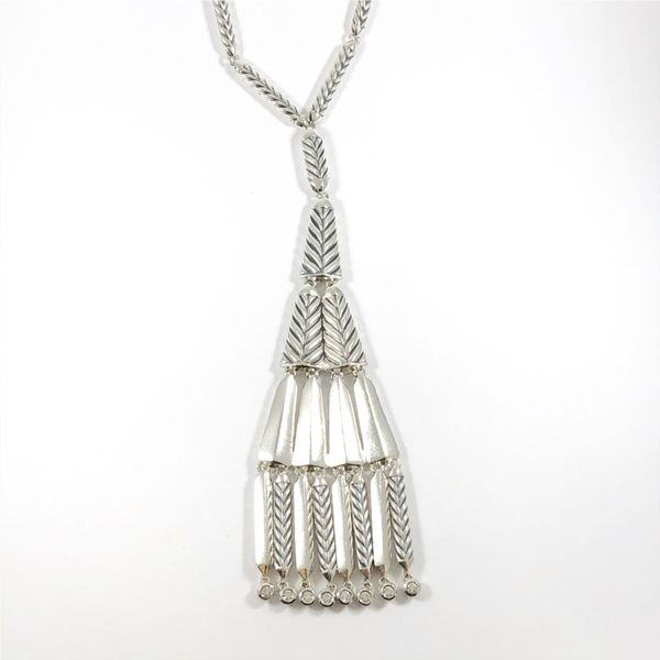 David Yurman Silver Tassel Necklace - 24