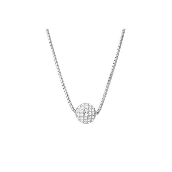 Charles Garnier CZ Ball Necklace - 16