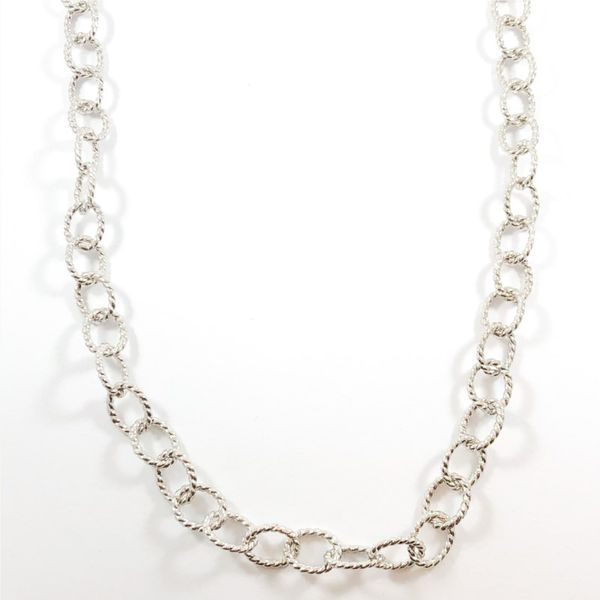 Raymond Mazza Sterling Silver Link Necklace - 36