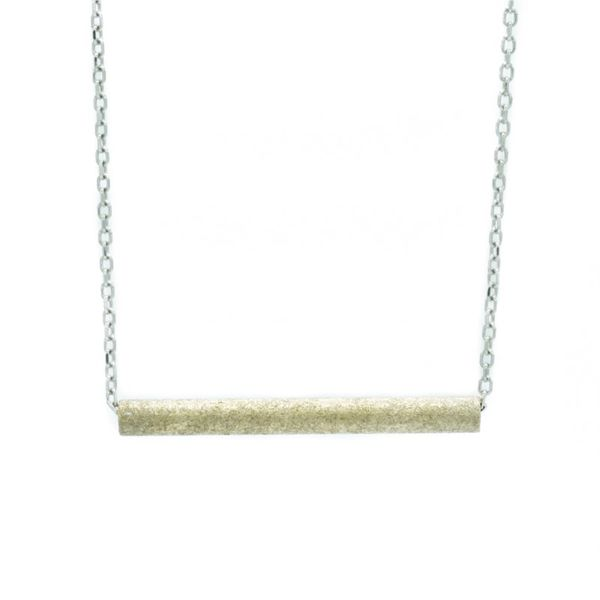 rEVOLVE 14k Yellow Gold Stardust Tube Necklace Lumina Gem Wilmington, NC