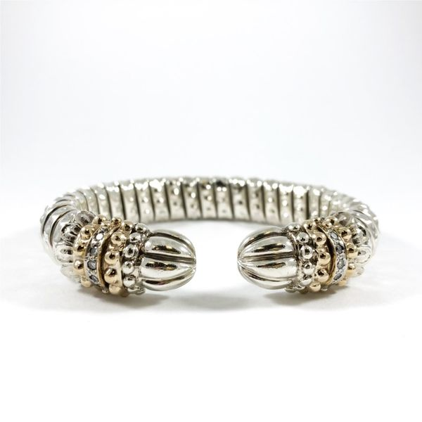 Alwand Vahan Two Tone Bracelet with Diamond Accents Lumina Gem Wilmington, NC