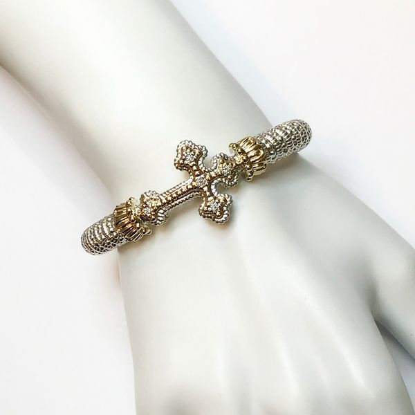 Alwand Vahan 8mm .10ctw Diamond Cross Bracelet Image 2 Lumina Gem Wilmington, NC