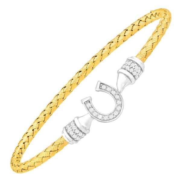 Charles Garnier Sterling Silver and Yellow Gold Vermeil CZ Horseshoe Buckle Lumina Gem Wilmington, NC