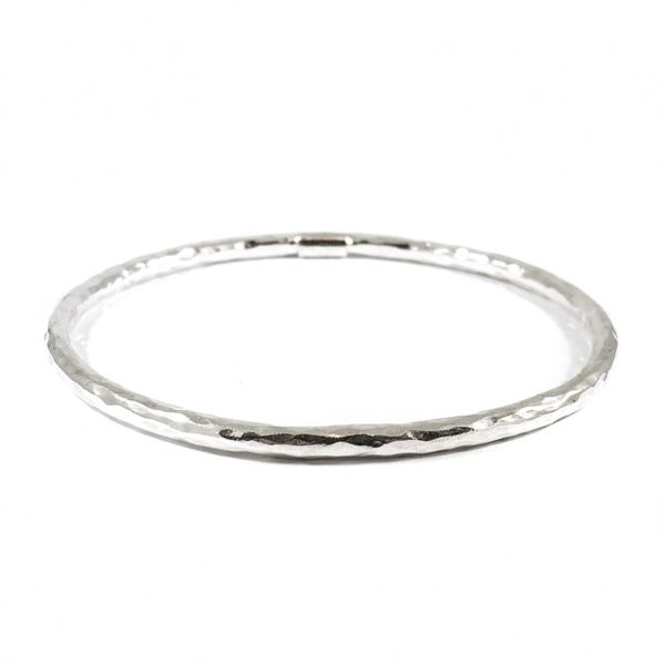 Ippolita Sterling Silver Hammered Bangle Lumina Gem Wilmington, NC