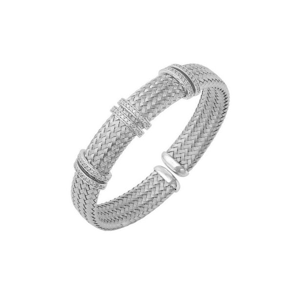 Charles Garnier 12mm CZ and Sterling Silver Cuff Lumina Gem Wilmington, NC