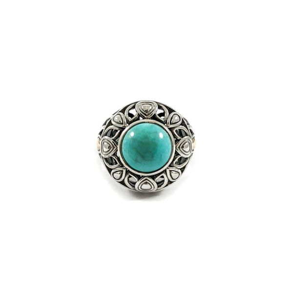 Angela by John Hardy Turquoise Ring - Sterling Silver and Yellow Gold Lumina Gem Wilmington, NC