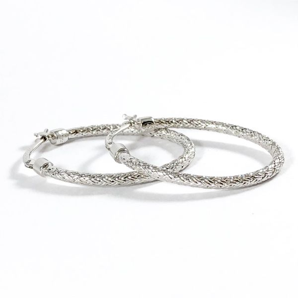 Charles Garnier Sterling Silver Woven Hoops Image 2 Lumina Gem Wilmington, NC