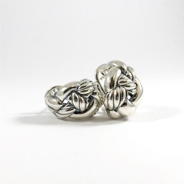 David Yurman Huggies With Omega Backs Image 3  ,