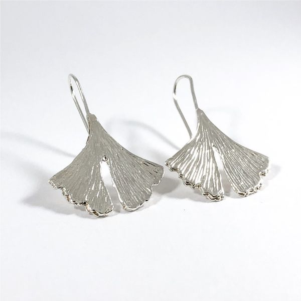 Ginko Leaf Earrings Image 2 Lumina Gem Wilmington, NC