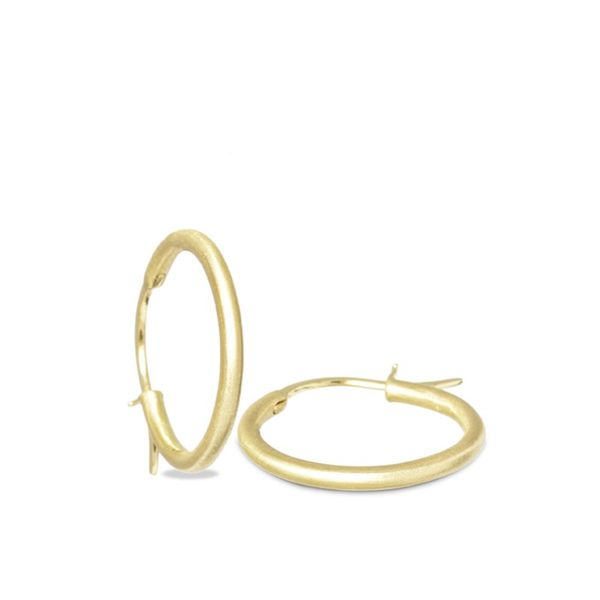 Nina Nguyen 25mm Yellow Gold Plated Hoops Lumina Gem Wilmington, NC