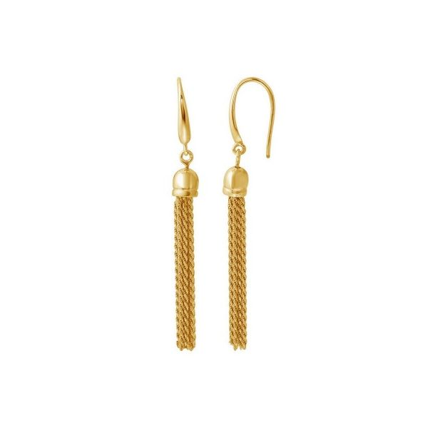 Charles Garnier Yellow Gold Vermeil Tassel Earrings Lumina Gem Wilmington, NC