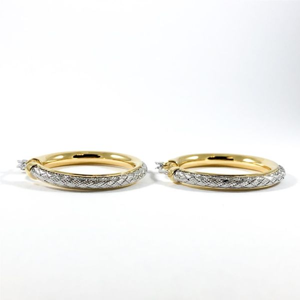 Charles Garnier Two Tone 35mm Hoops Image 2 Lumina Gem Wilmington, NC