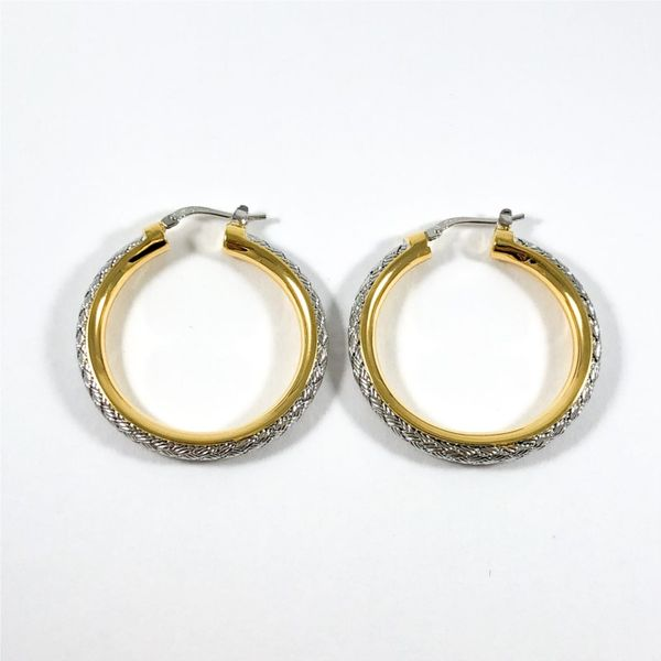 Charles Garnier Two Tone 35mm Hoops Image 3 Lumina Gem Wilmington, NC