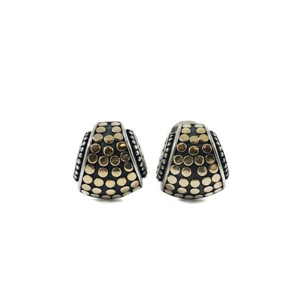 John Hardy Two Tone Omega Back Earrings Lumina Gem Wilmington, NC