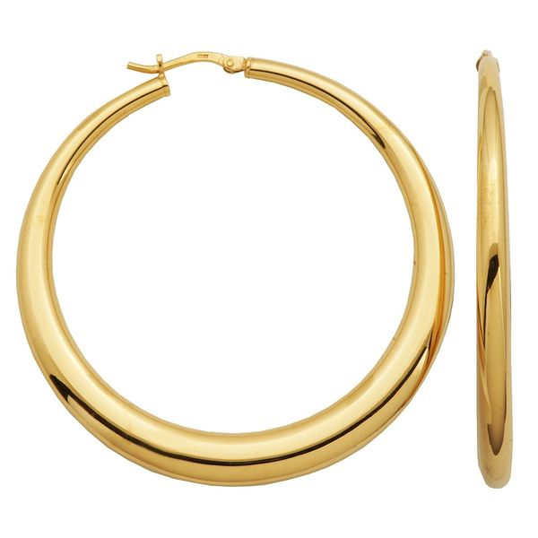 Charles Garnier Yellow Gold Plated Hoops Lumina Gem Wilmington, NC