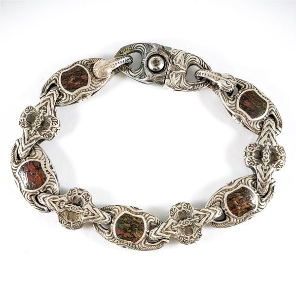 William Henry Men's Bracelet with Dinosaur Bone - 9