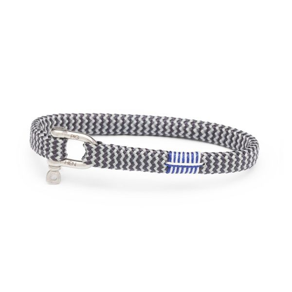 Pig & Hen Vicious Vik Rope Bracelet - Slate & Light Grey - Small/Medium Lumina Gem Wilmington, NC