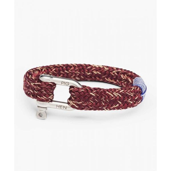 Pig & Hen Gorgeous George Rope Bracelet - Bordeaux and Sand - Medium Lumina Gem Wilmington, NC