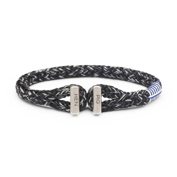 Pig & Hen Icy Ike Rope Bracelet - Black and Light Gray - Small/Medium Lumina Gem Wilmington, NC