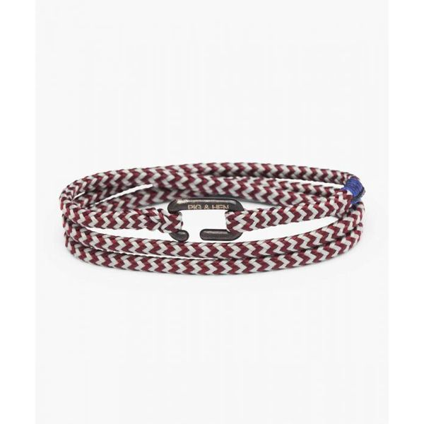 Pig & Hen Savage Sam Rope Bracelet -  Bordeaux and Light Gray - Small/Medium Lumina Gem Wilmington, NC