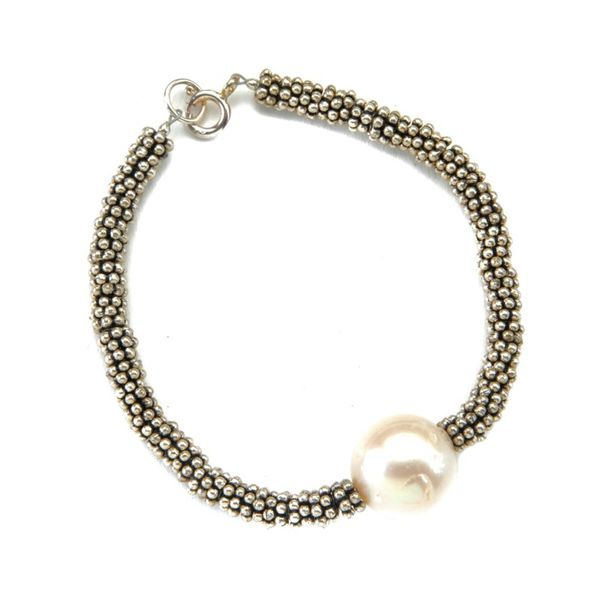 Wendy Perry Designs South Sea Pearl Bracelet - Sterling Silver Lumina Gem Wilmington, NC