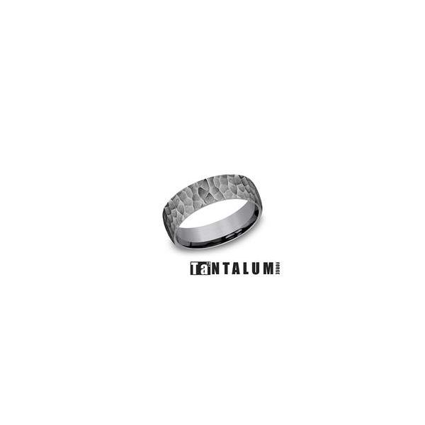 Benchmark 6.5mm Hammered Tantalum Band Lumina Gem Wilmington, NC