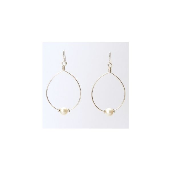 Wendy Perry Designs Cristina Single Pearl Earrings - Sterling Silver Lumina Gem Wilmington, NC