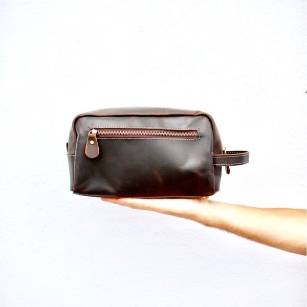 Dopp kit from Flint Leather Co Lumina Gem Wilmington, NC