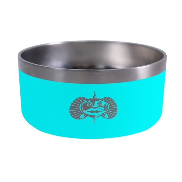 Toadfish Non-Toadfish Dog Bowl - Teal Lumina Gem Wilmington, NC