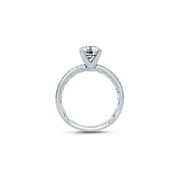 Classic Four Prong Modern Vintage Engagement Ring Image 2  ,