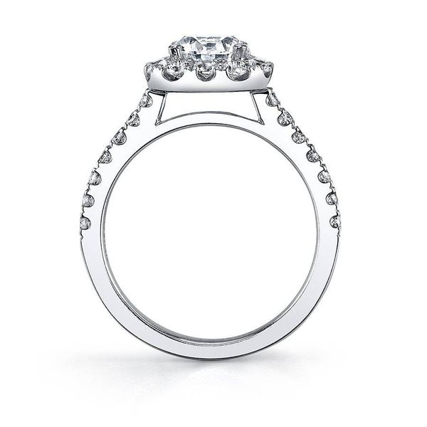 EMELINE – OVAL ENGAGEMENT RING WITH HALO Image 2  ,