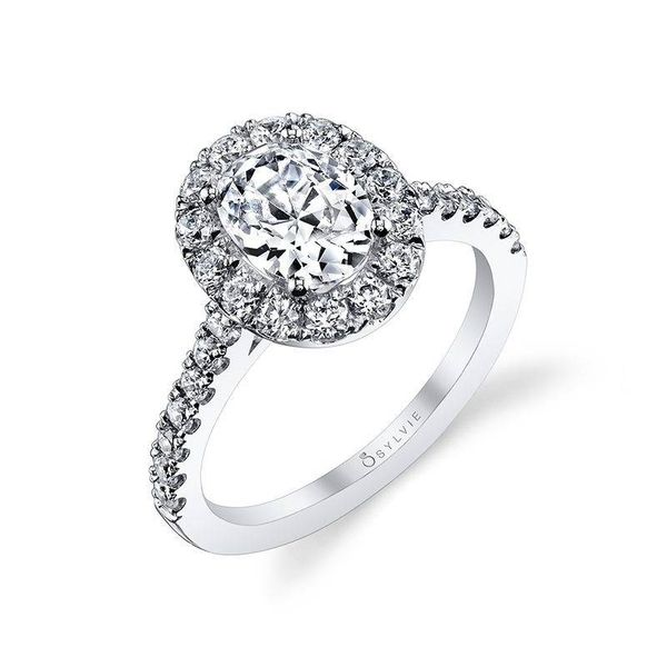 EMELINE – OVAL ENGAGEMENT RING WITH HALO Mark Allen Jewelers Santa Rosa, CA
