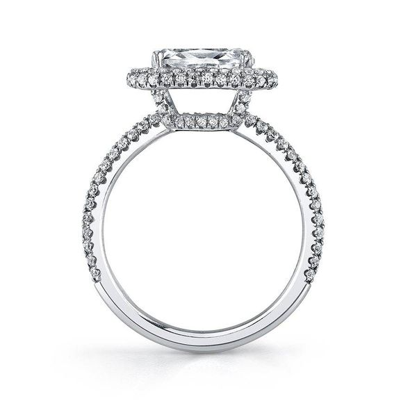 VALERE – OVAL SHAPED EAST TO WEST HALO ENGAGEMENT RING Image 2  ,