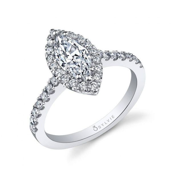 LUCIE – MARQUISE SHAPED HALO ENGAGEMENT RING Mark Allen Jewelers Santa Rosa, CA