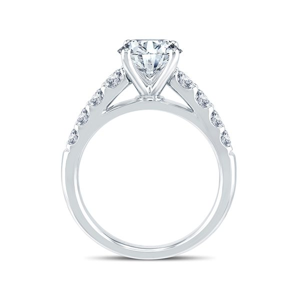 14k White Gold Diamond Engagement Ring Image 3 Mark Allen Jewelers Santa Rosa, CA