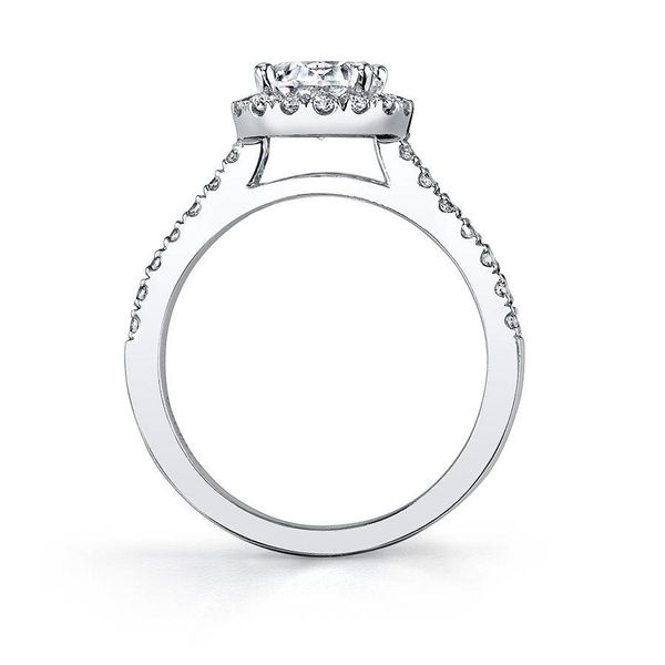 VÉRONIQUE – PRINCESS CUT HALO ENGAGEMENT RING Image 2 Mark Allen Jewelers Santa Rosa, CA
