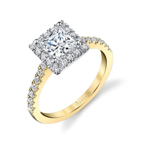 VÉRONIQUE – PRINCESS CUT HALO ENGAGEMENT RING Image 3 Mark Allen Jewelers Santa Rosa, CA