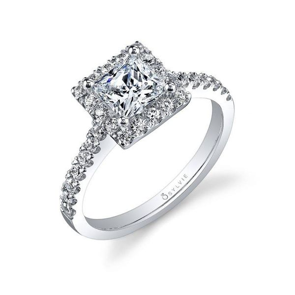VÉRONIQUE – PRINCESS CUT HALO ENGAGEMENT RING Mark Allen Jewelers Santa Rosa, CA