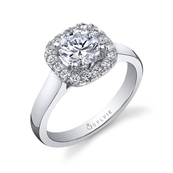 THERESE – TWO TONE CUSHION HALO ENGAGEMENT RING Image 2 Mark Allen Jewelers Santa Rosa, CA