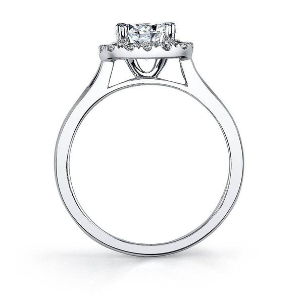 THERESE – TWO TONE CUSHION HALO ENGAGEMENT RING Image 3 Mark Allen Jewelers Santa Rosa, CA