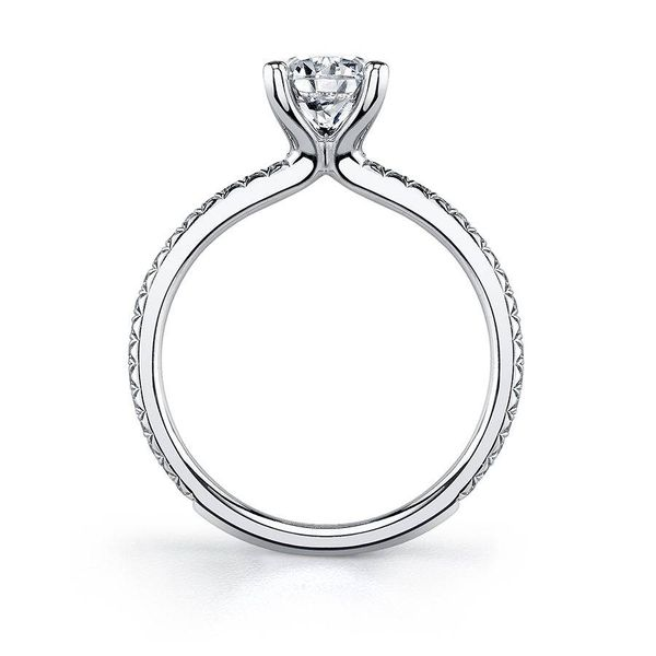 ADORLEE – ROUND SOLITAIRE ENGAGEMENT RING Image 2  ,