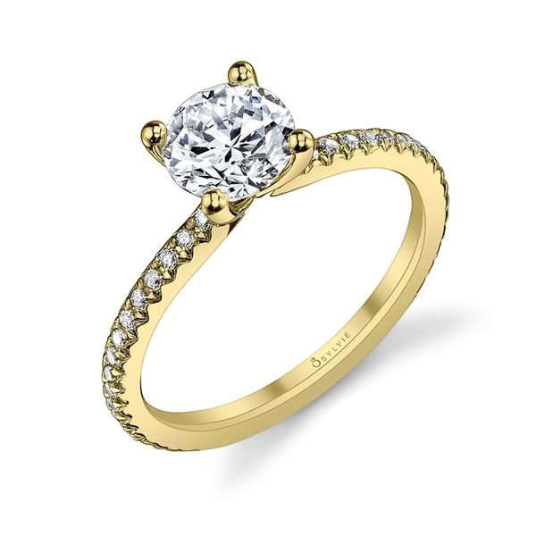 ADORLEE – ROUND SOLITAIRE ENGAGEMENT RING Image 4  ,
