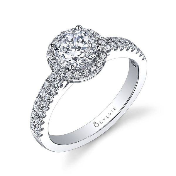 GWENDOLINE – CLASSIC HALO ENGAGEMENT RING Mark Allen Jewelers Santa Rosa, CA