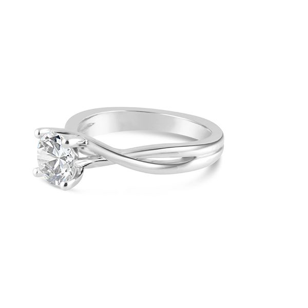 Twist Solitaire Engagement Ring Image 2 Mark Allen Jewelers Santa Rosa, CA