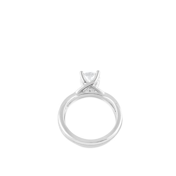 Twist Solitaire Engagement Ring Image 3 Mark Allen Jewelers Santa Rosa, CA